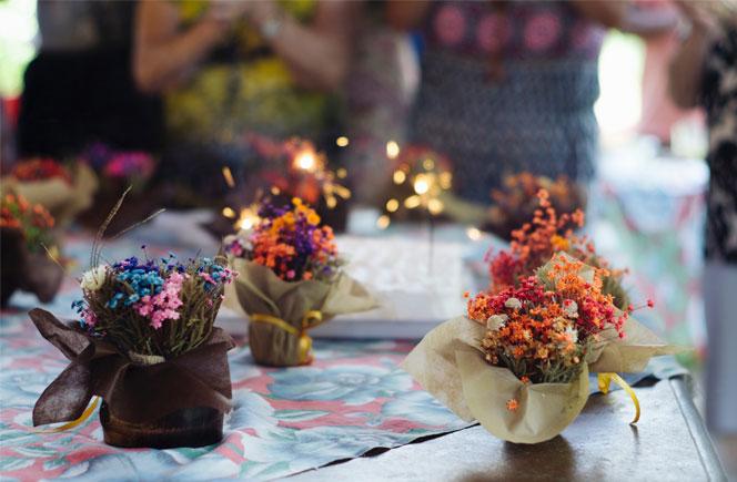 ideas decoración flores casa