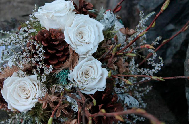 bodas en invierno ramo