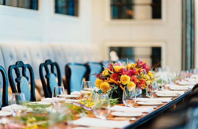 flores en casa centro de mesa
