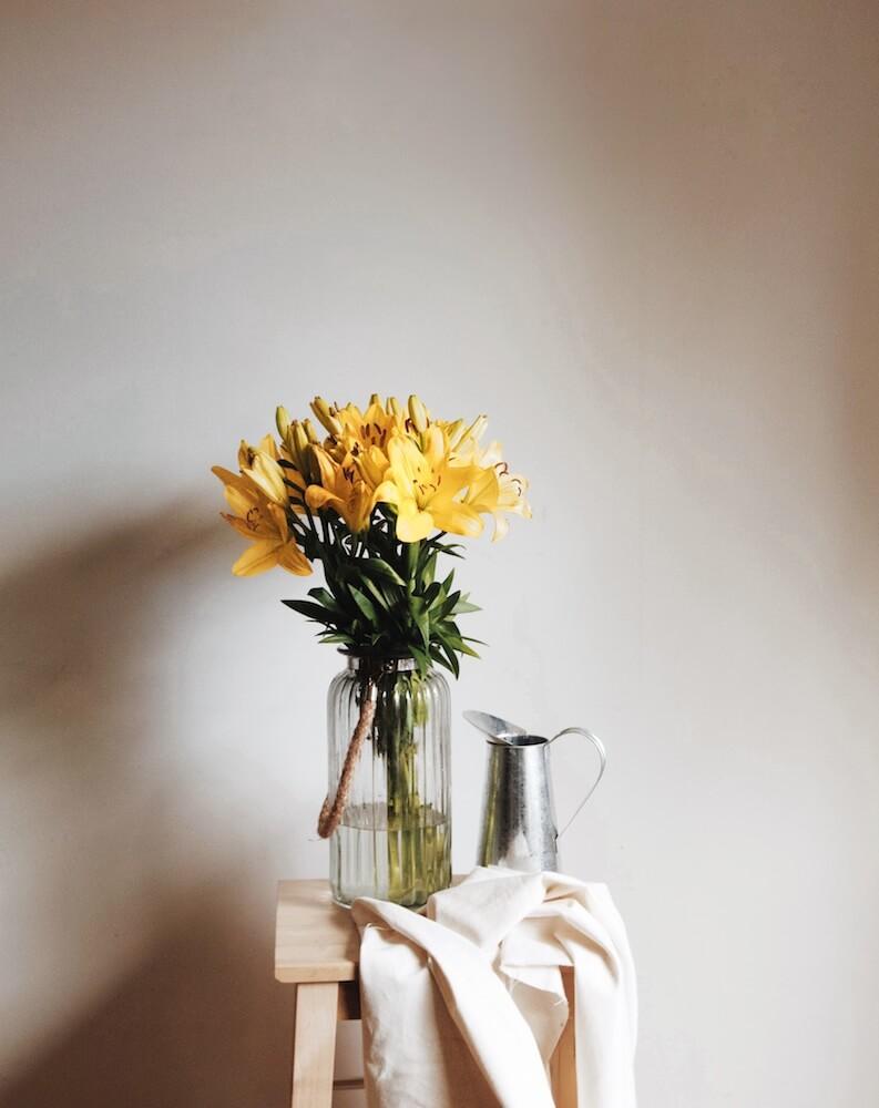objetos de decoración jarrón cuerda