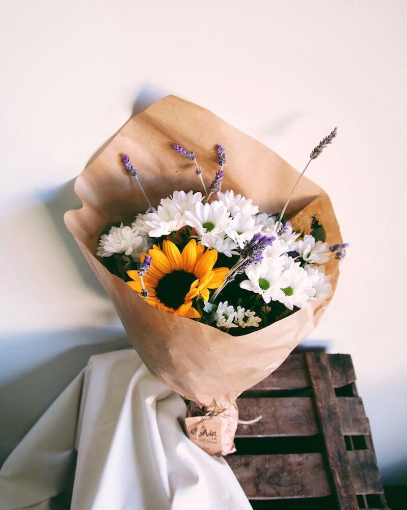 flores de regalo crisantemos