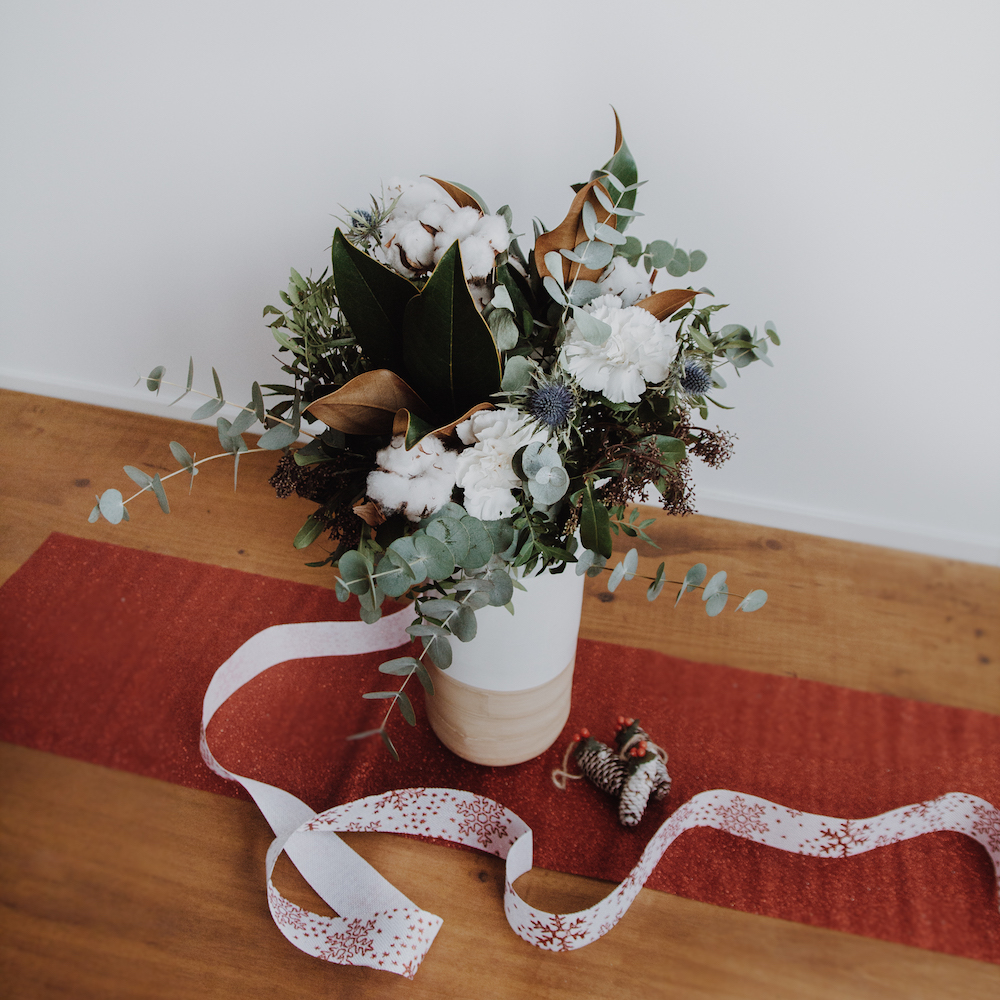 flor de algodón bouquet