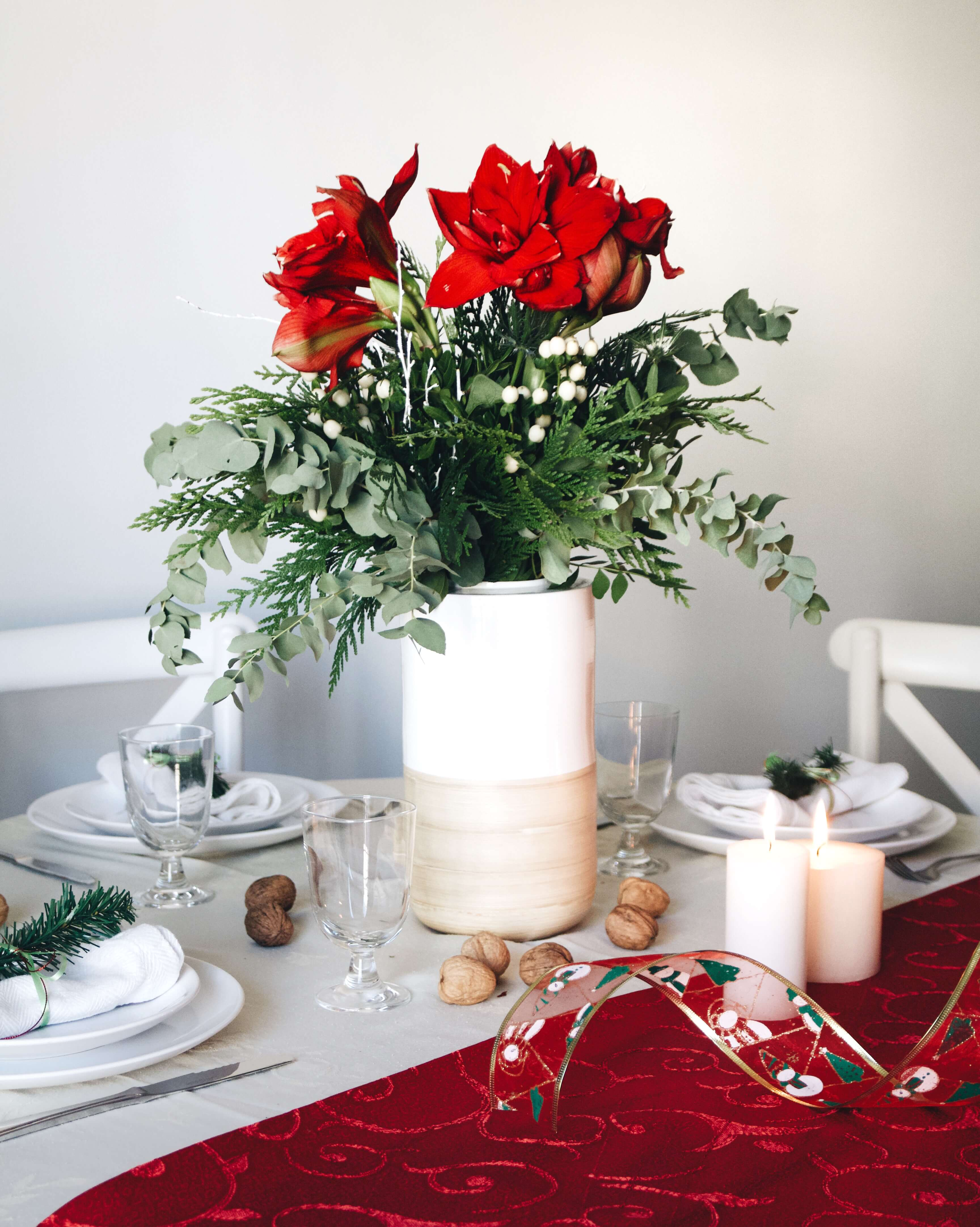 ramo de navidad con amaryllis rudolph Colvin