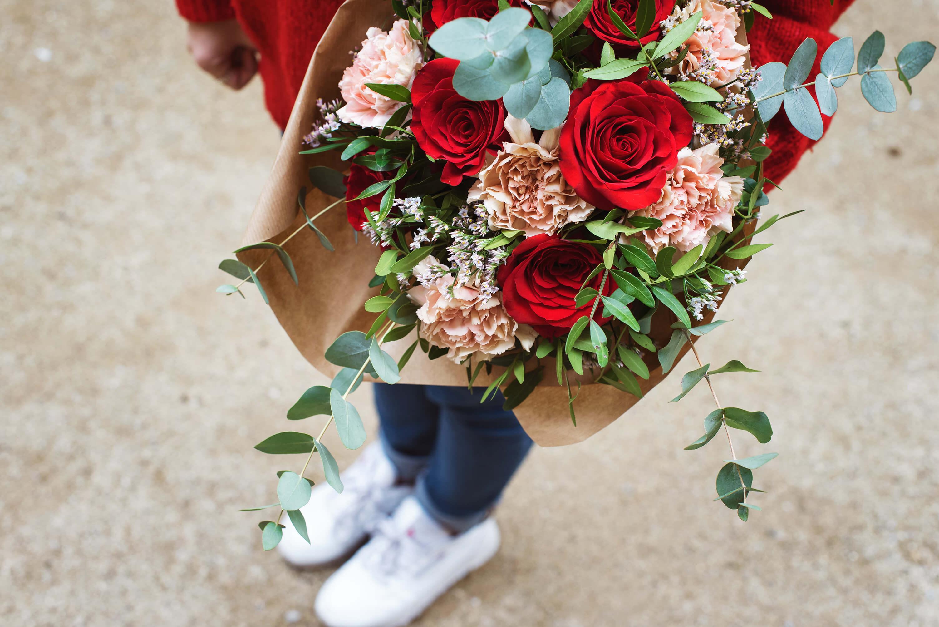 Honeymoon- ramo de flores con rosas para San Valentin