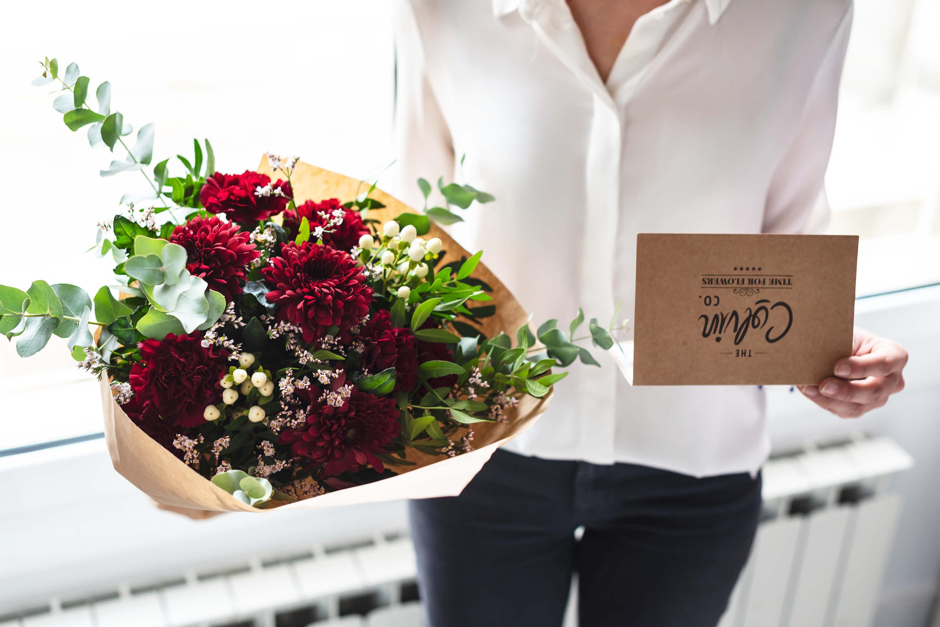 Tender love, ramo de flores con crisantemos para san valentin