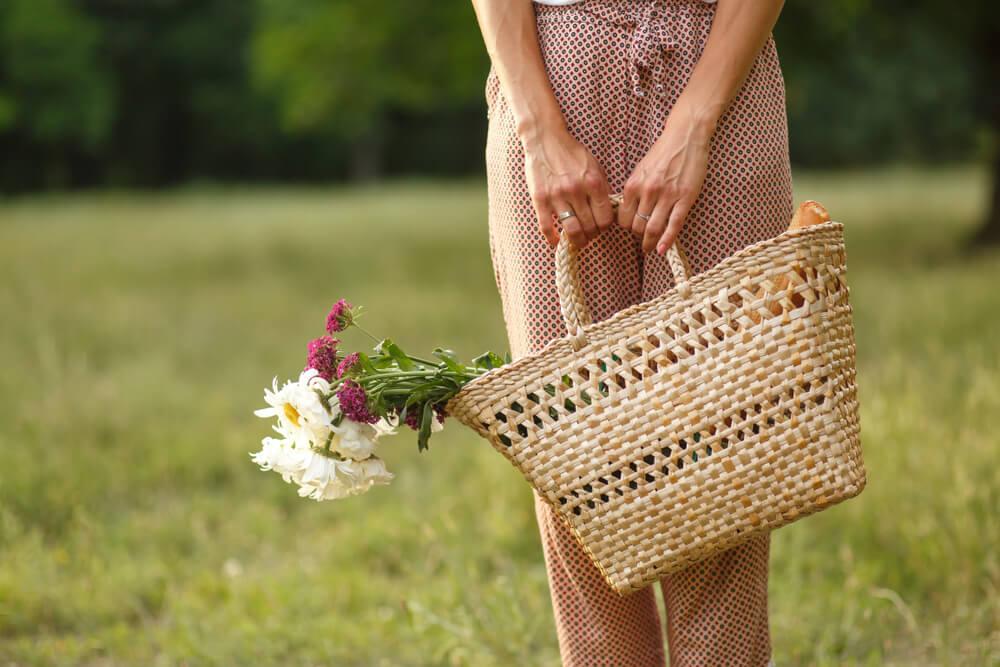recolectar flores detalle