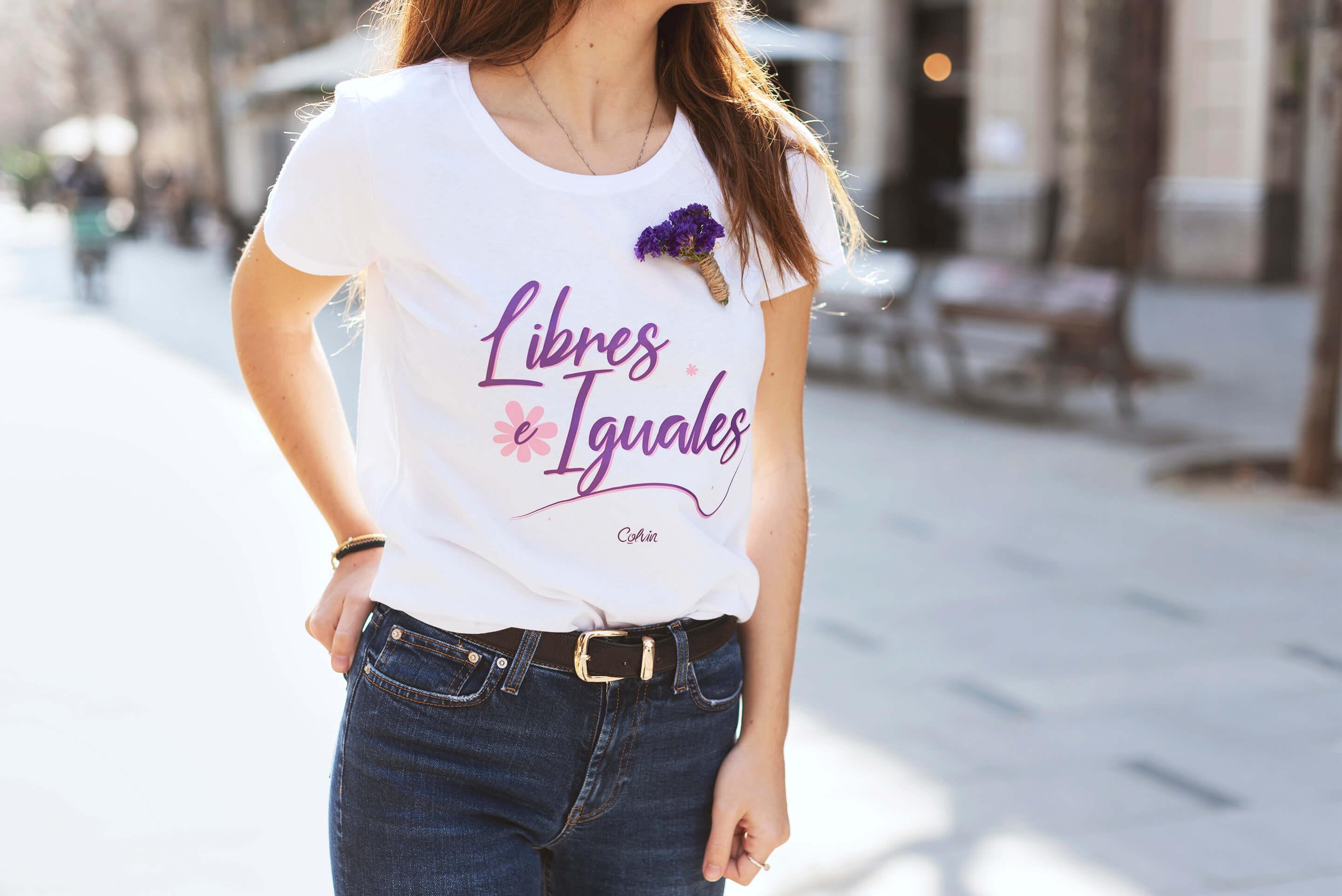 Libres e iguales camiseta para el día de la mujer