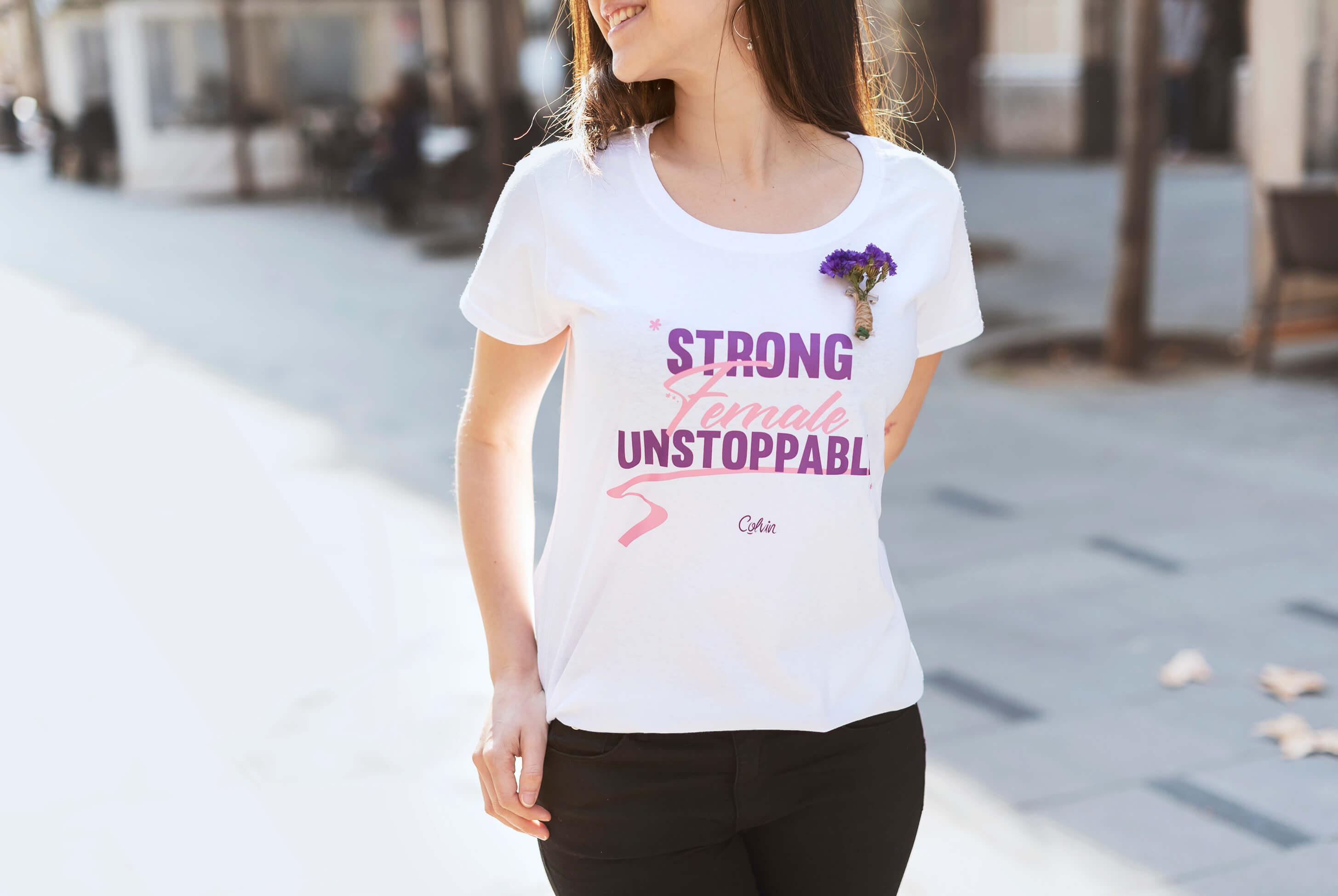 strong female unstoppable camiseta para el dia de la mujer