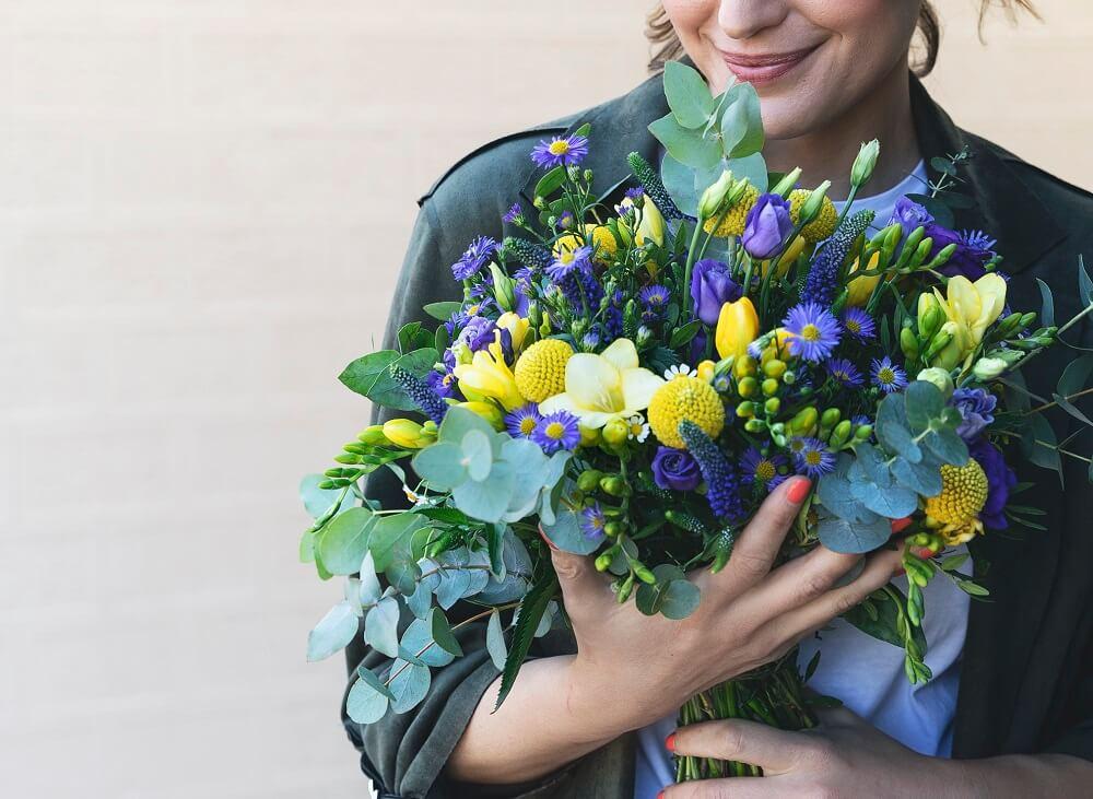 El ramo Miss Sunshine en muy buena compañía: la flor verónica