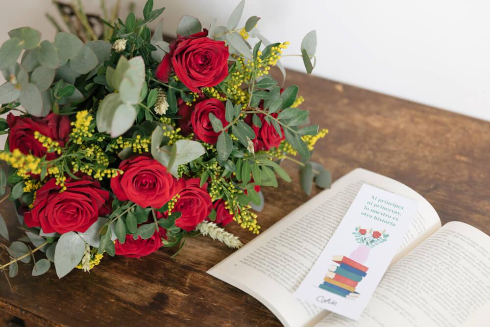 Marcapáginas descargable e imprimible para Sant Jordi