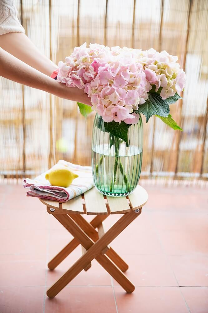flores cortadas hortensias