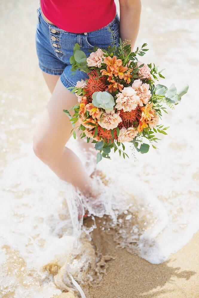 flores cortadas coral
