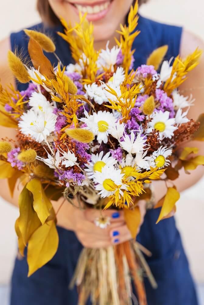 Trockenblumenstrauß mit Hafer