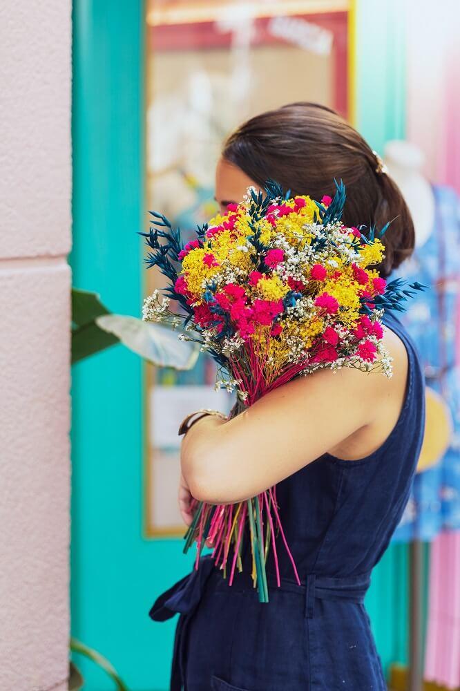 milenrama en flor seca