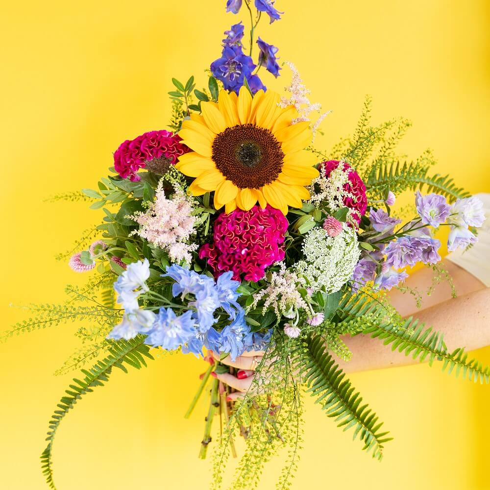 Flor celosía en bouquet