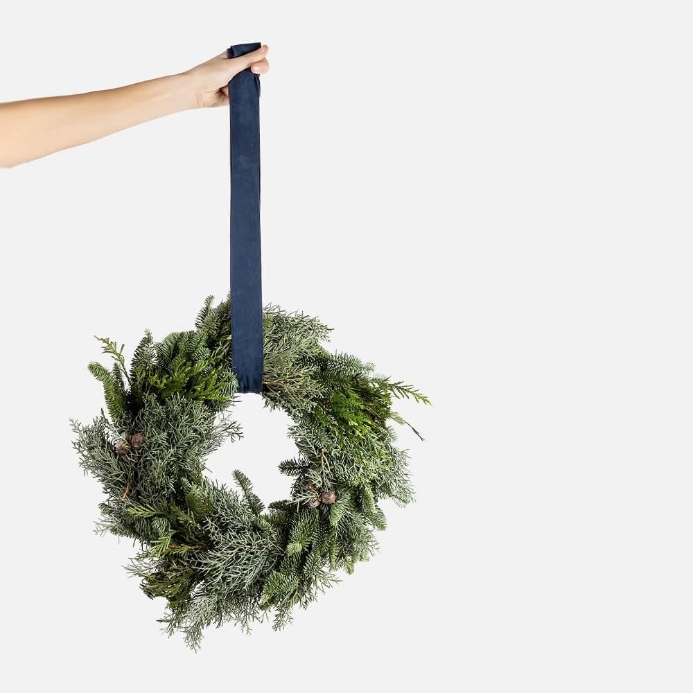 coronas de navidad verde