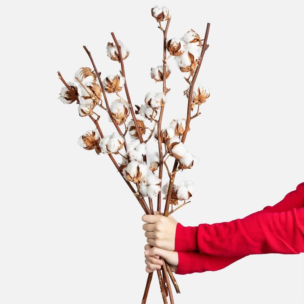 Decoración navideña con algodón