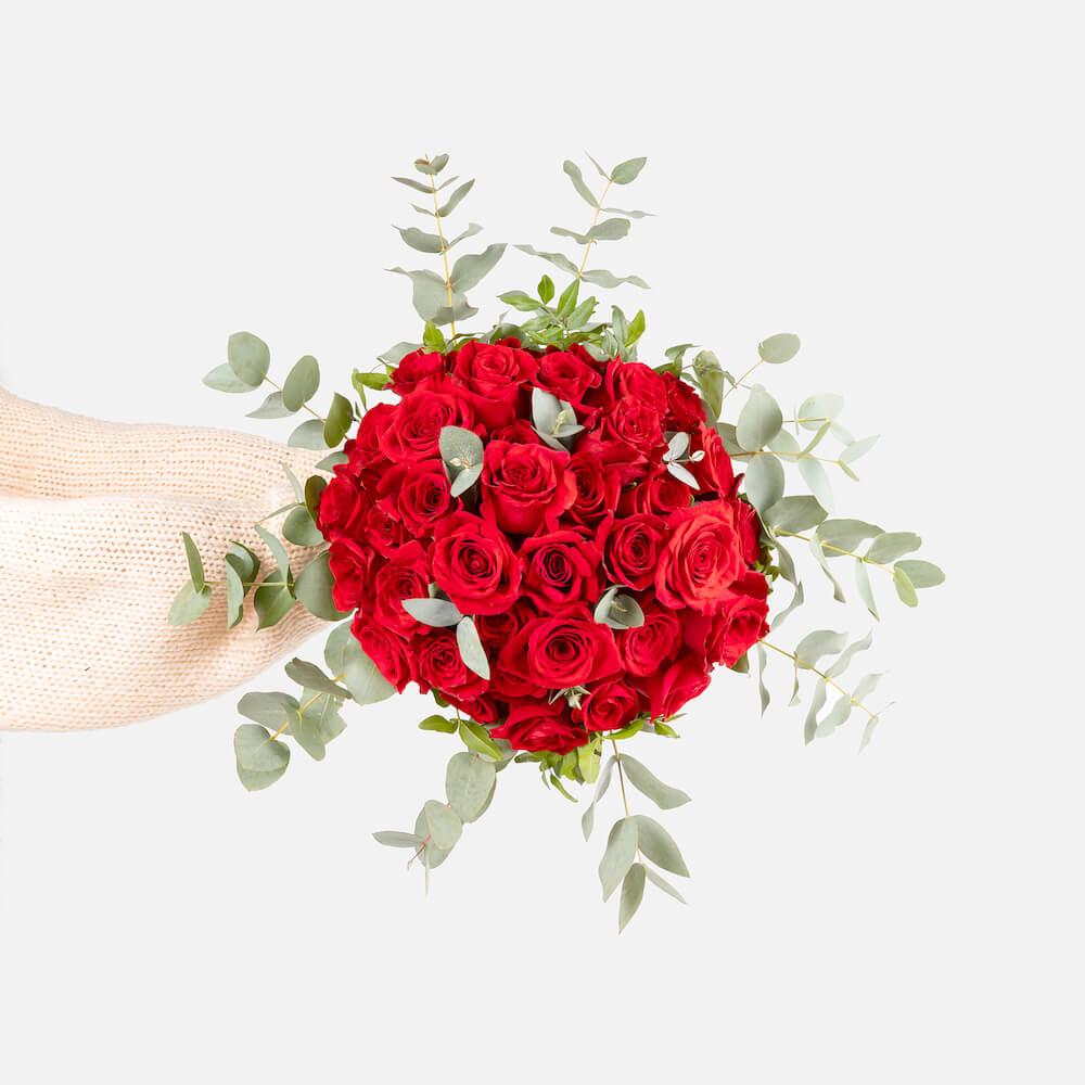 Flores en san valentín rosas