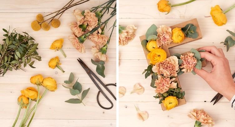 letras florales
