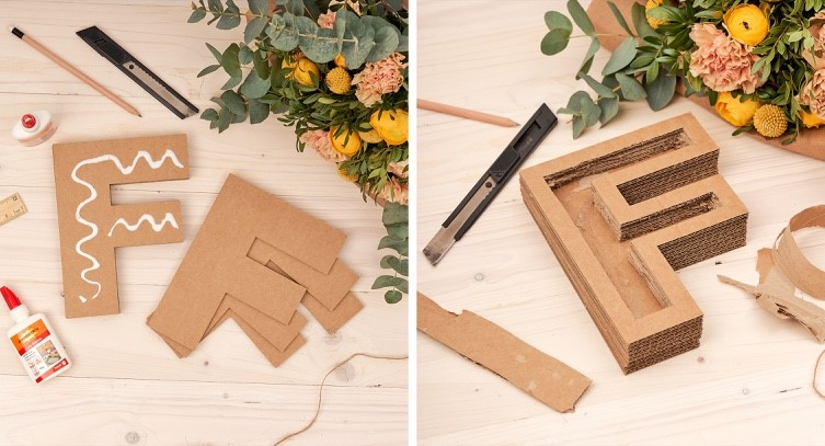 letras florales manualidades
