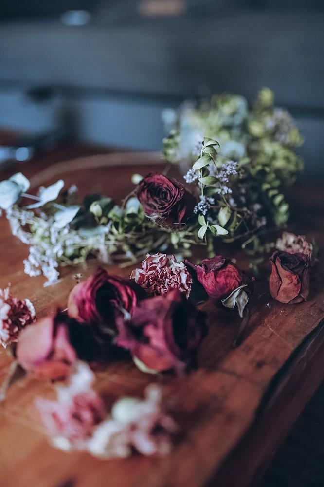 Tutorial con flores secas