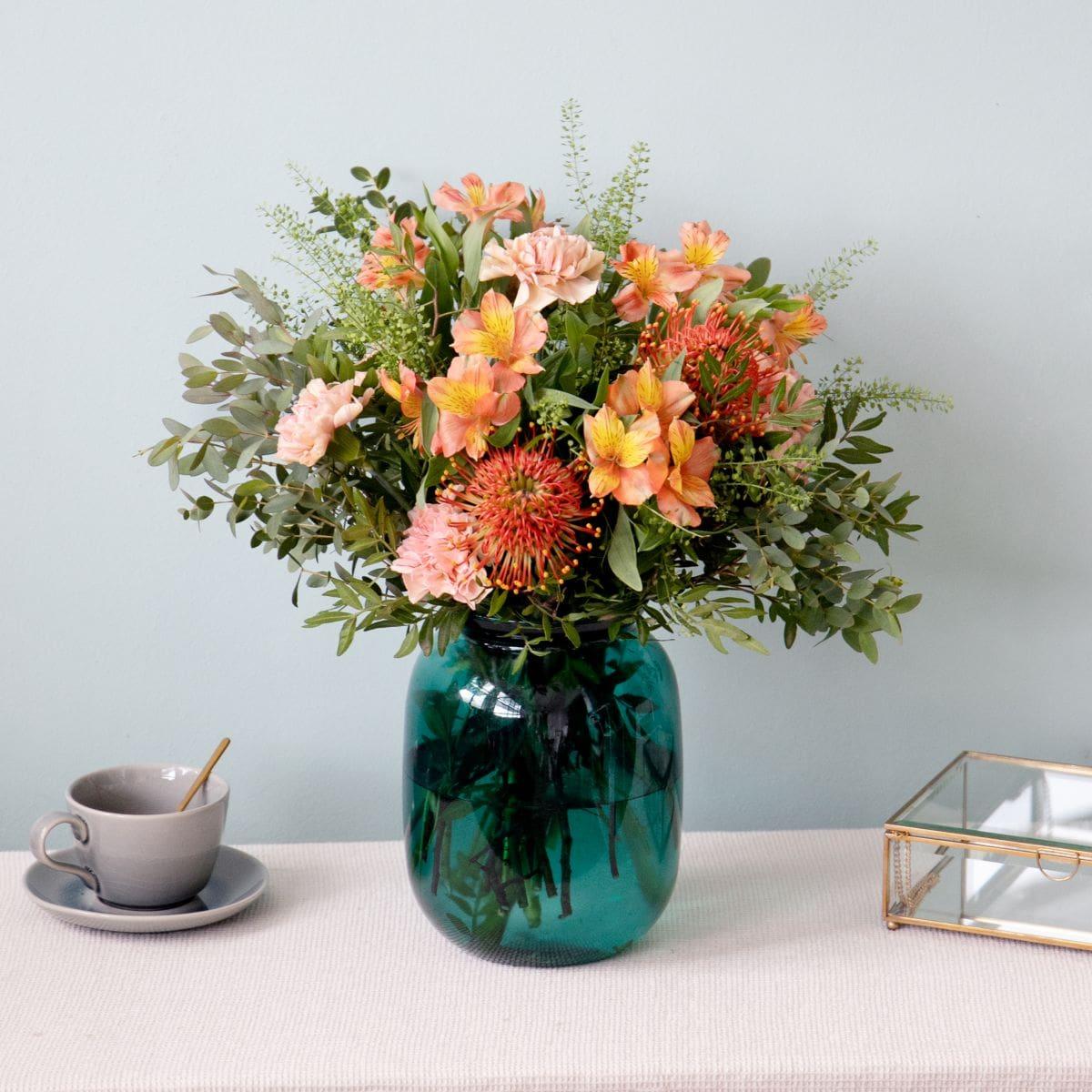 ramo de flores con clavel y nutans