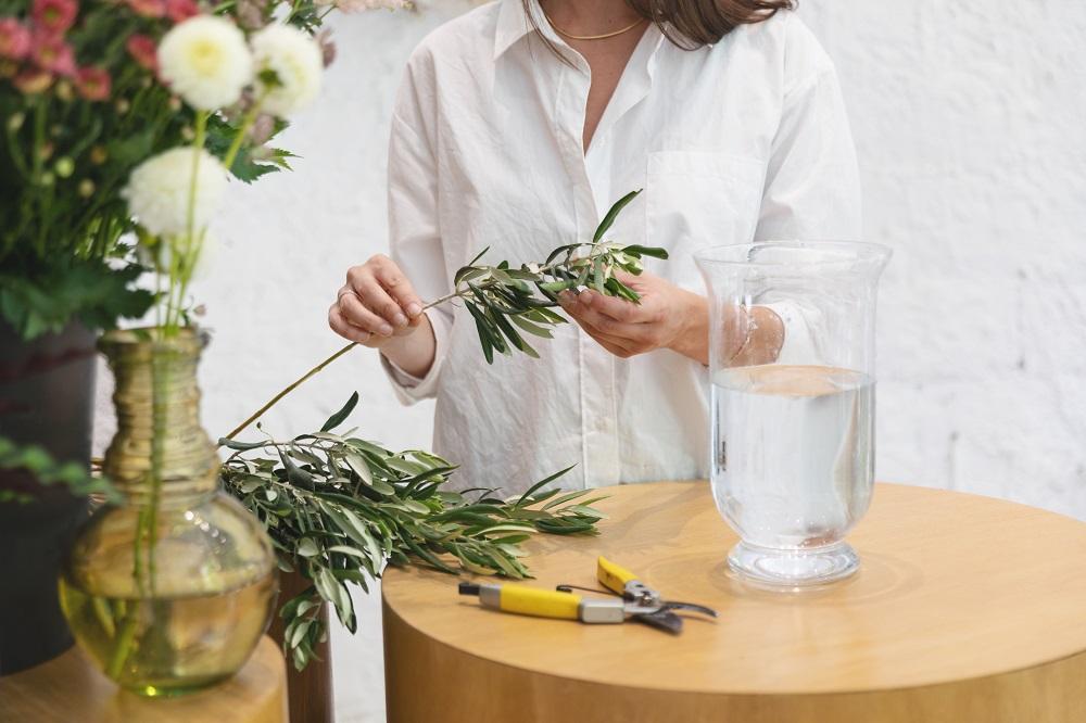 tutorial centro de flores tallos