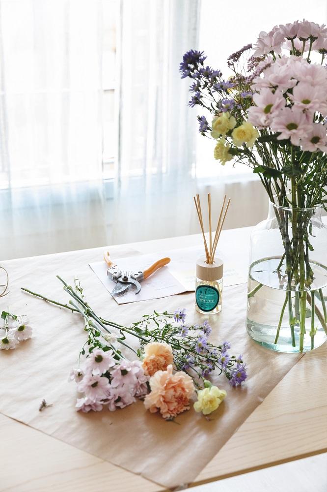 ramo de flores DIY y mikado