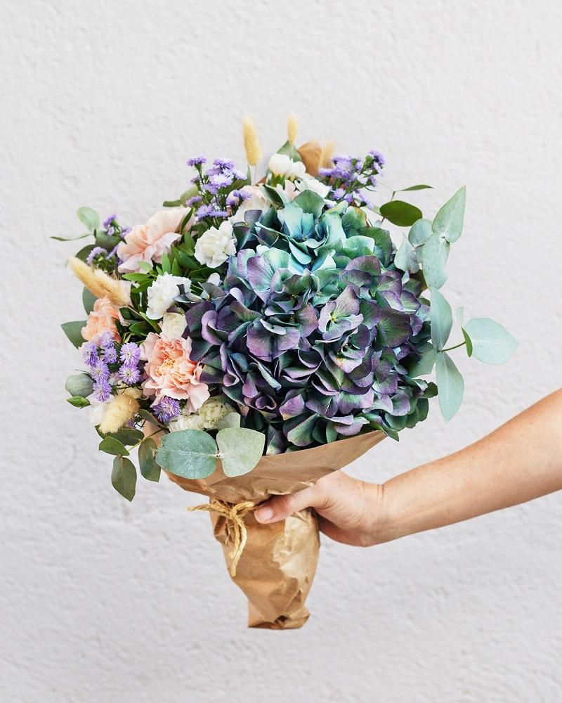 hortensias antique en ramo bluemoon