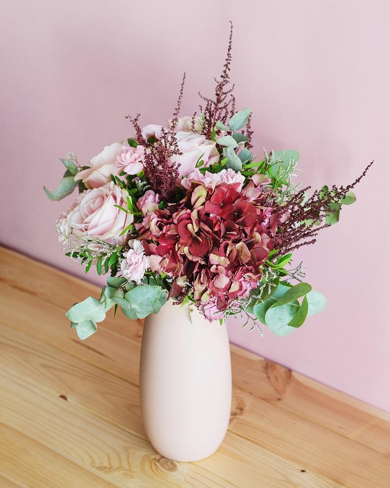 hortensias antique en ramo Pink Pop