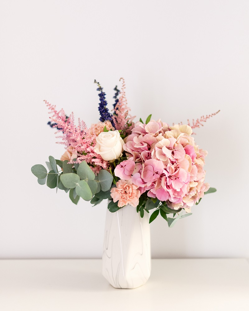 hortensias antique en ramo Sweet Blossom