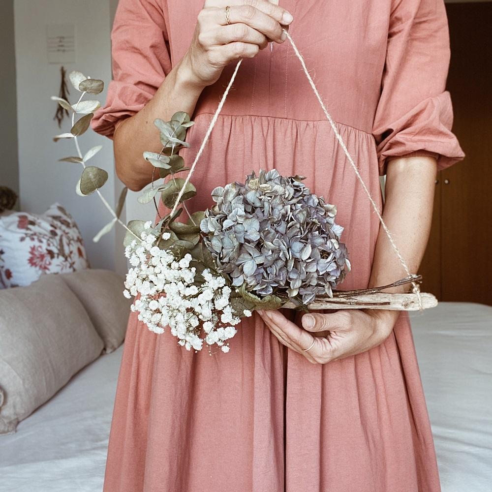 Tutorial con hortensias secas
