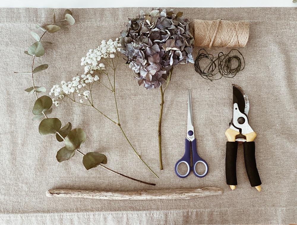tutorial de hortensias herramientas