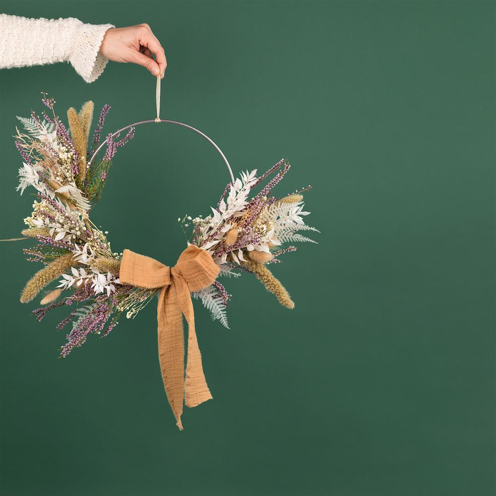 coronas de navidad estilo boho