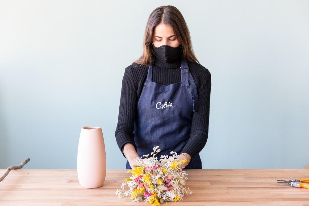 tutorial con flor seca ramo Coral
