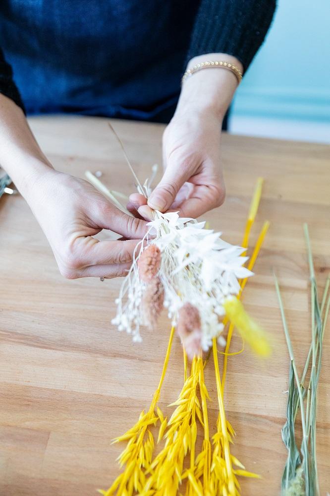 tutorial con flor seca ramitos