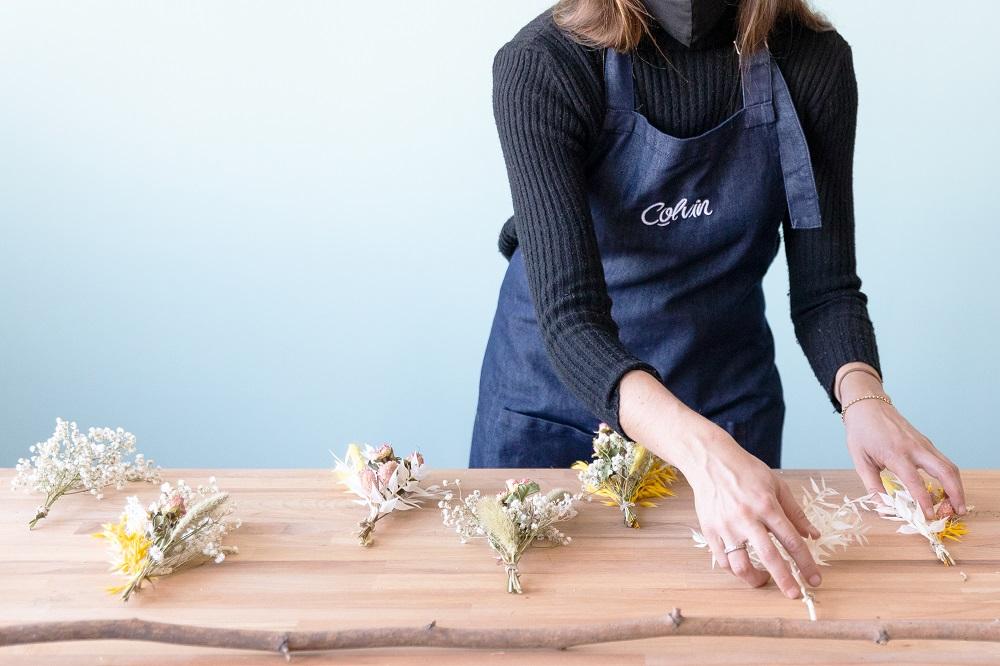 tutorial con flor seca palo