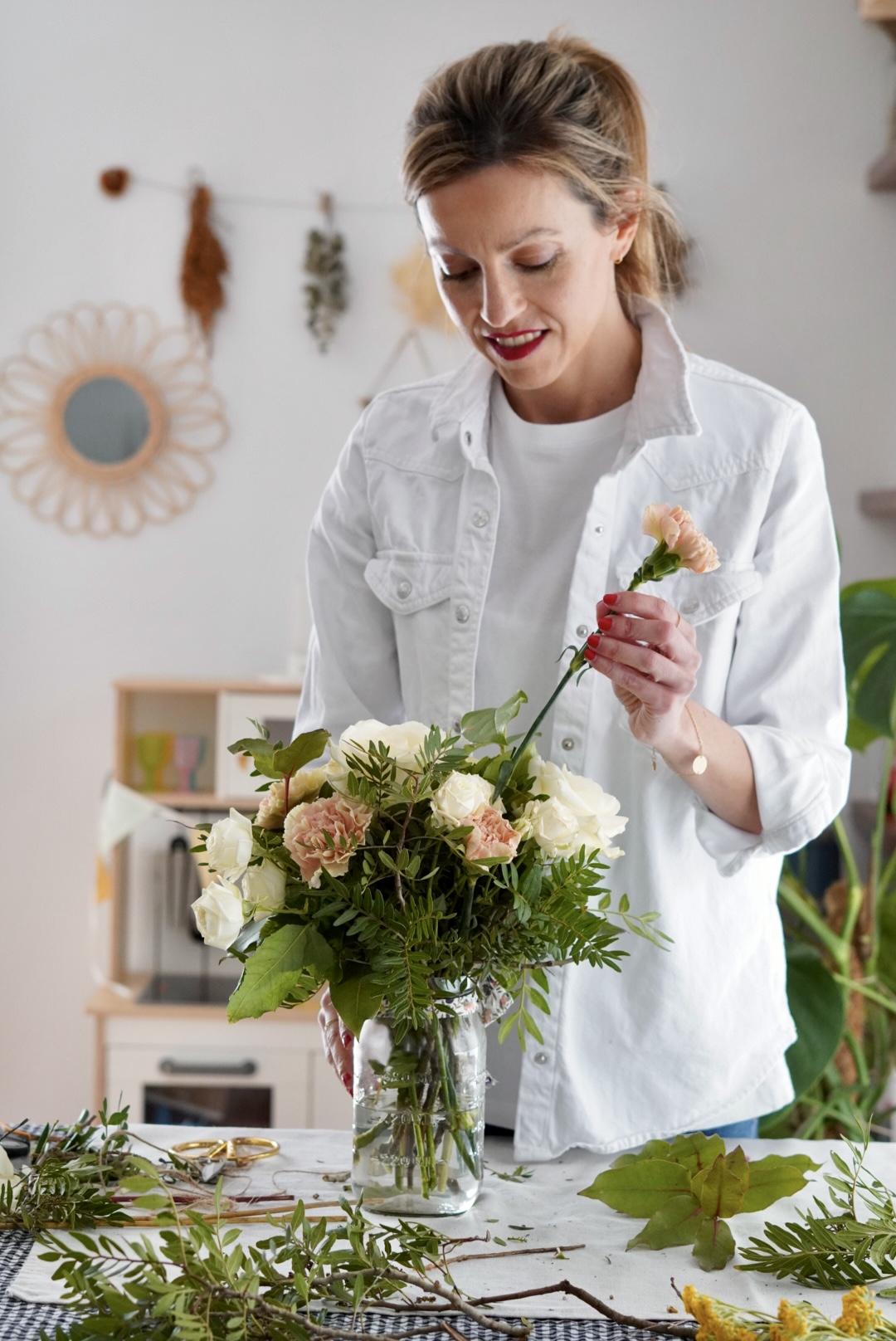 decorar con ramo de flores