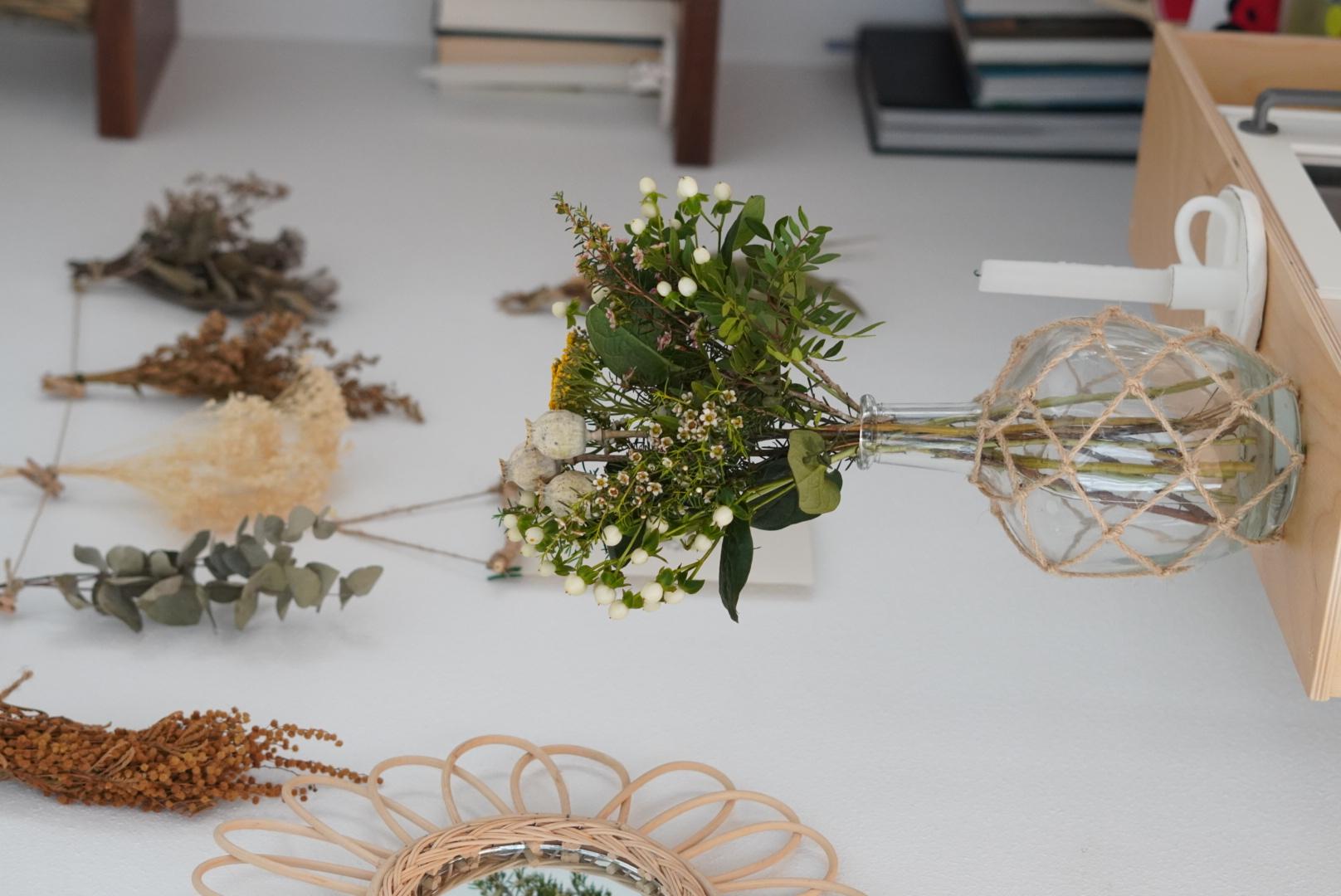 hacer ramo con flores secas