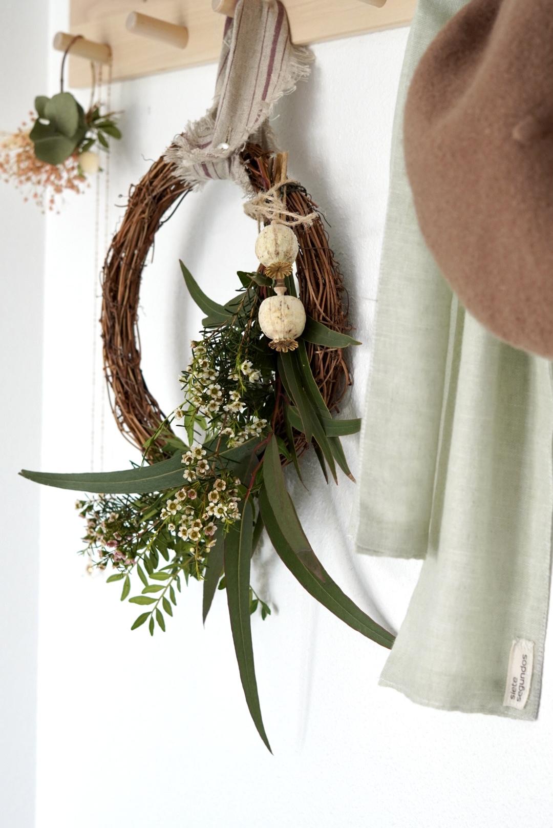 hacer una corona de flores
