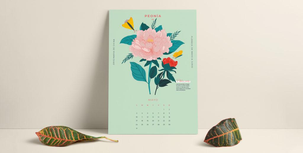 Celebra mayo con nuestro calendario descargable y una flor muy esperada