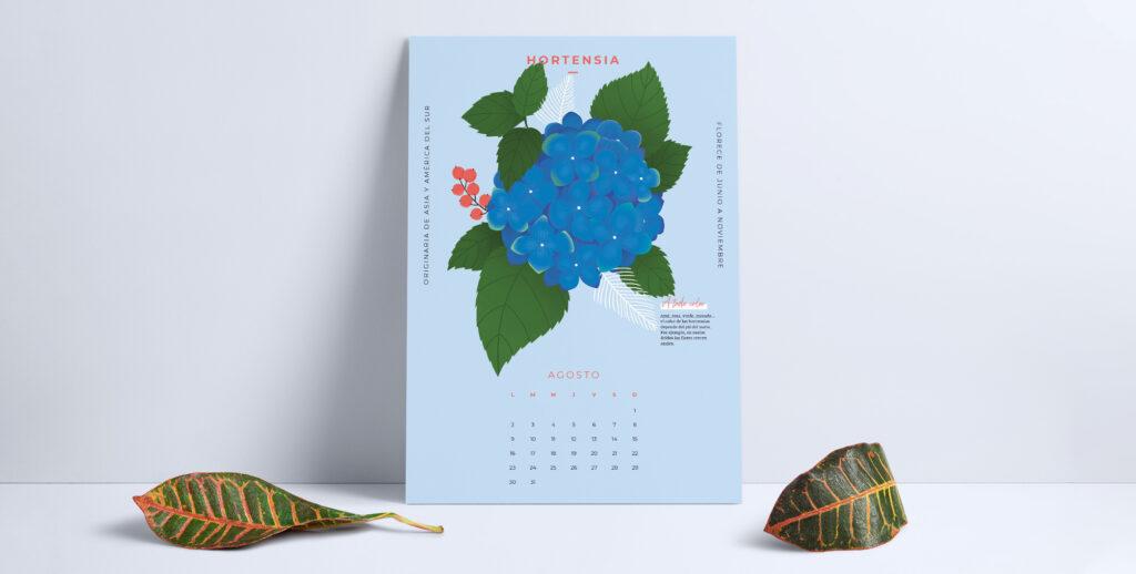 Comienza agosto a todo color con el calendario descargable