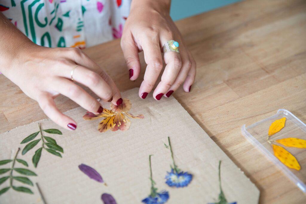 funda personalizada flores secas