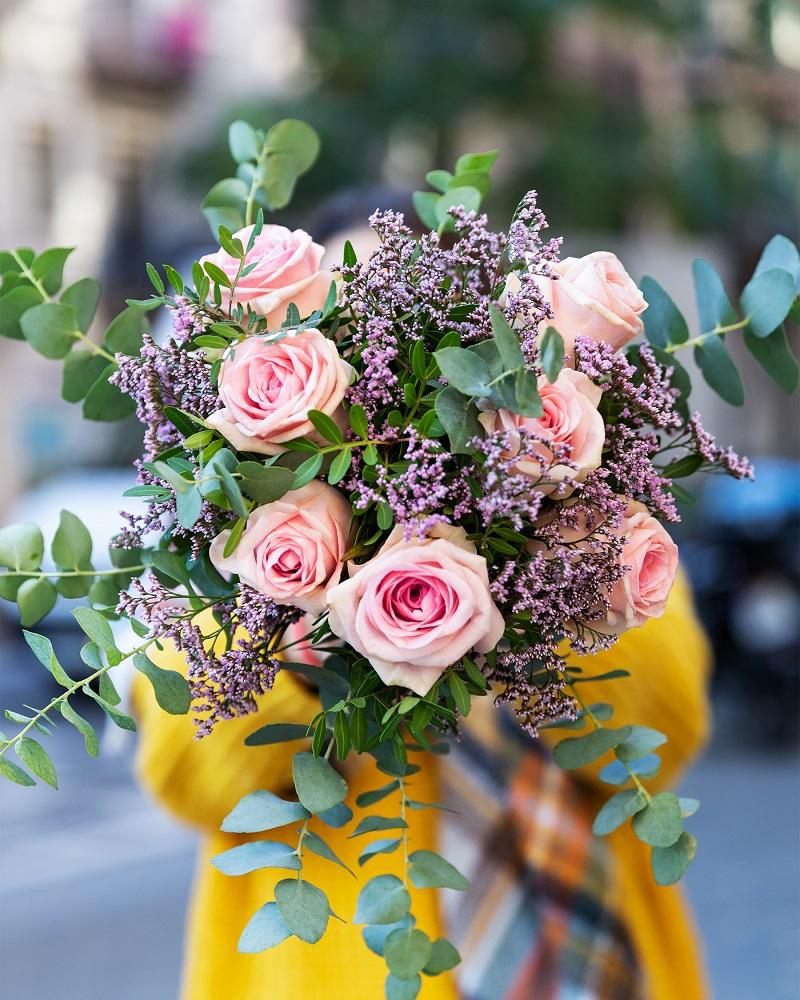 flores para la jubilación - rosas