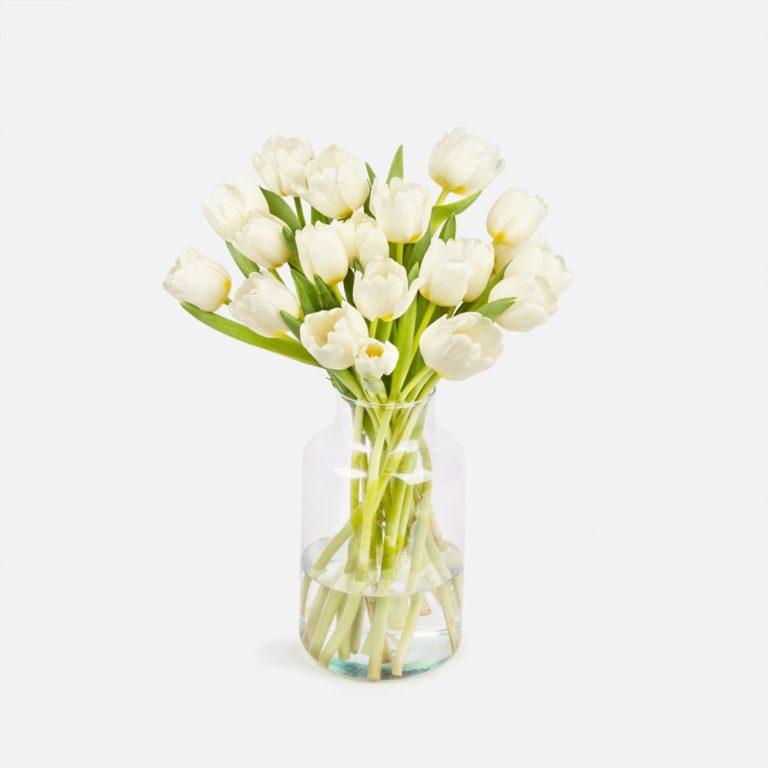 ramo de tulipanes blancos dia de la madre