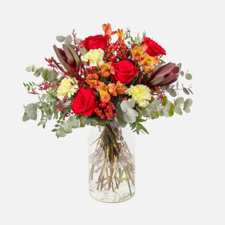 ramo flores rojas nature