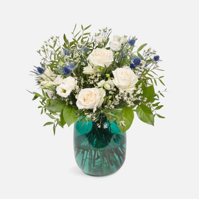 ramo flores blancas essence