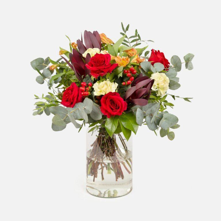 ramo flores rosas rojas