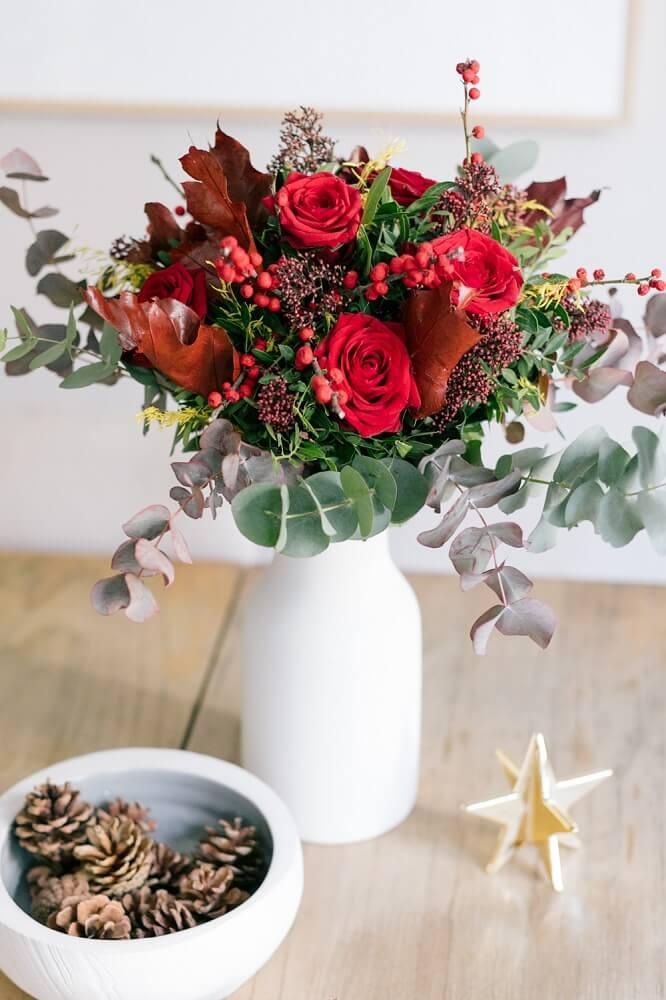 bouquet natalizio red velvet