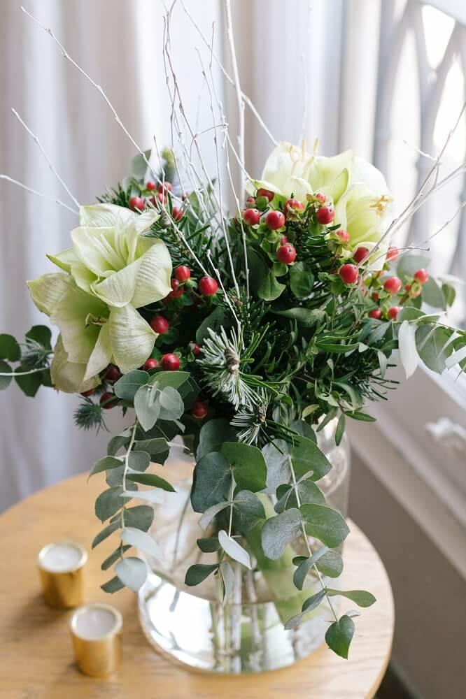 bouquet natalizio snowball